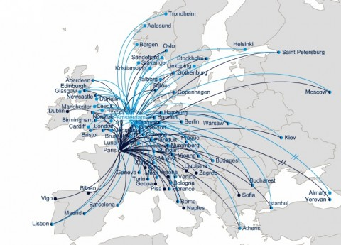 air-france-cdg-european-route-map